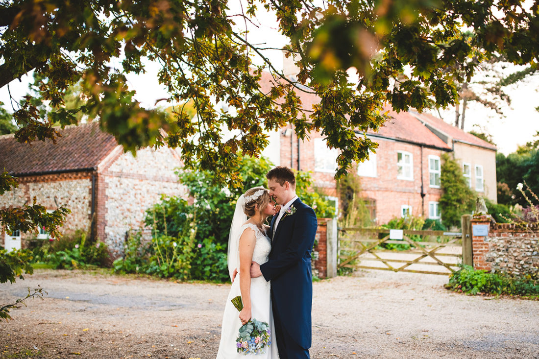 There are lots of perfect photo opportunities at this rustic barn wedding venue in Norfolk